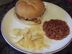Spectator Meal ONLY - Burger, Beans + Chips (incl drink)